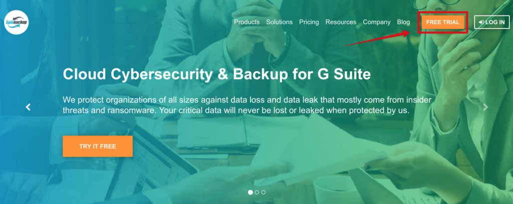 Spinbackup Free trial
