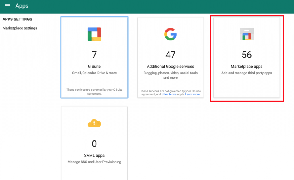 Spinbackup Google Marketplace Apps