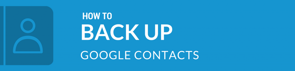 Spinbackup how to back up Google Contacts