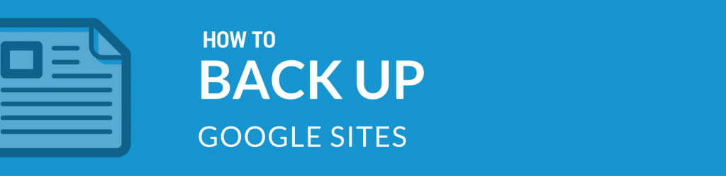 Spinbackup how to back up Google Sites