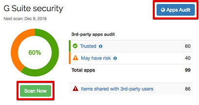 Spinbackup scan now apps audit