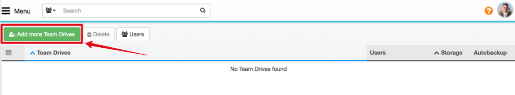 Spinbackup Google add more team drives